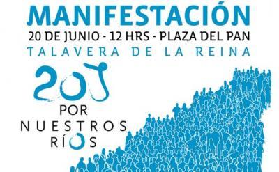 20J Manifestación en Talavera por nuestros ríos, por unos caudales ambientales limpios y reales