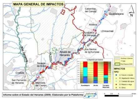 Mapas de impactos
