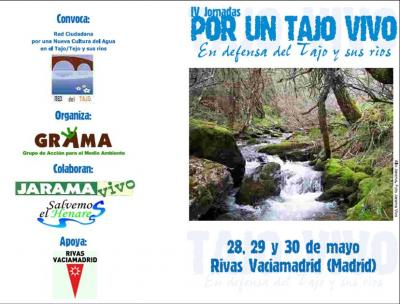 29-30 mayo: IV Jornadas de la Red del Tajo en Rivas