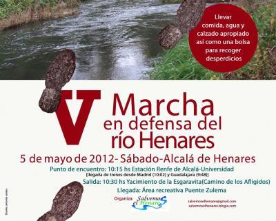 V Marcha en Defensa del Henares, 5 de mayo, en Alcalá