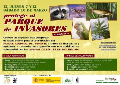 Actividades 9-10 Marzo: Invasoras e identificación de aves (Velilla San Antonio)