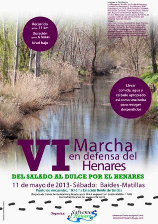 Sábado 11 de Mayo, VI Marcha en Defensa del Henares